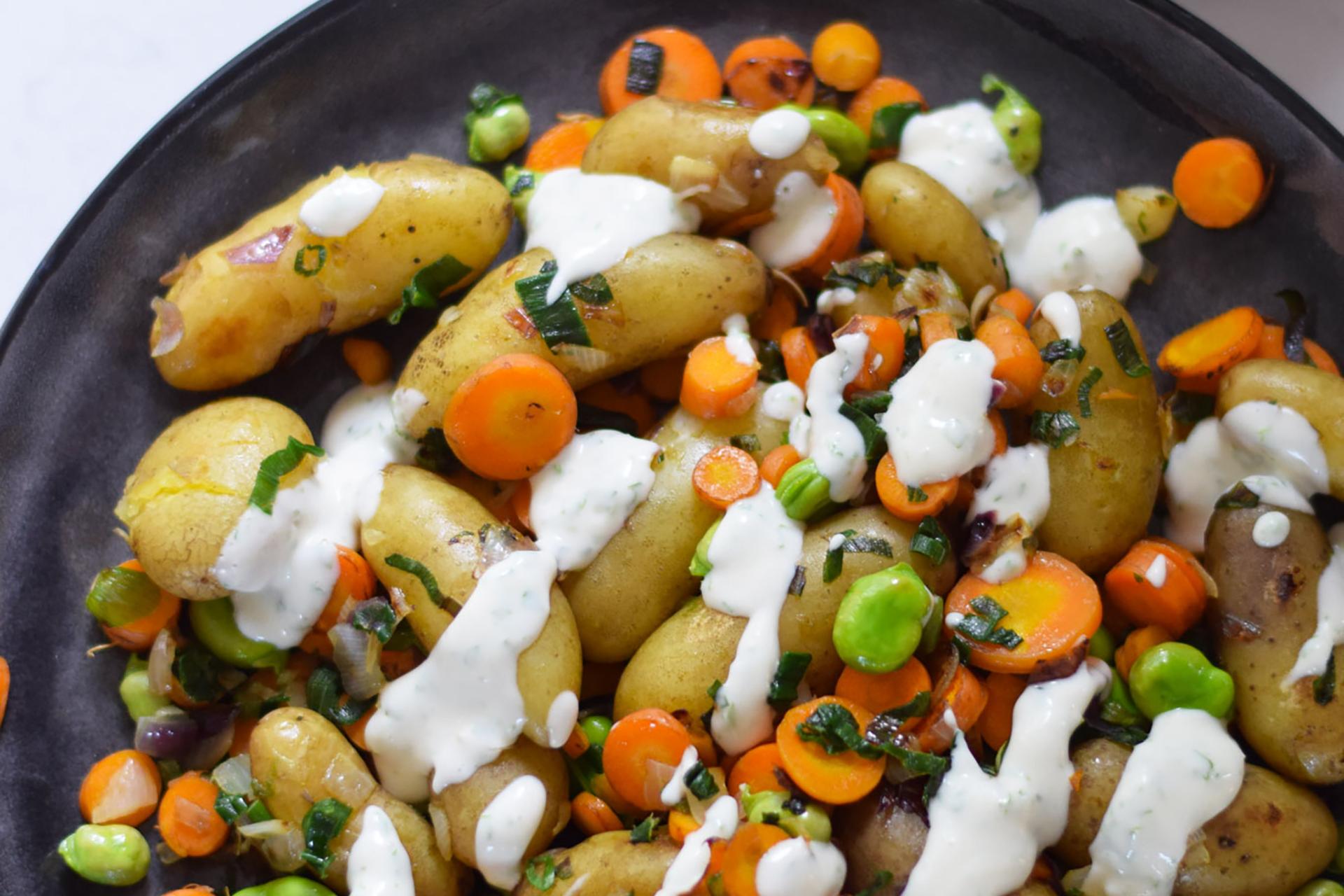 Stegt kartoffelsalat